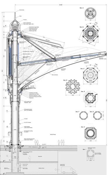 张拉膜建结构筑图纸