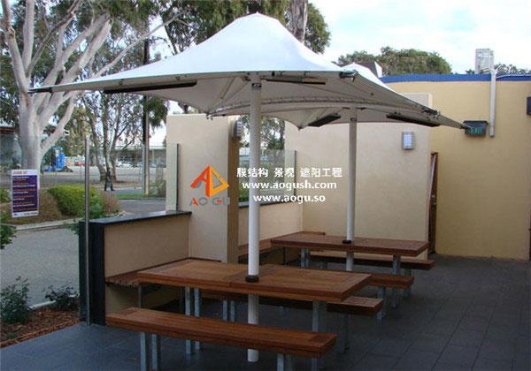 膜结构 中柱式遮阳伞