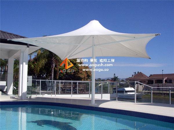 休闲广场 景观遮阳膜伞